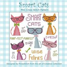 Smart Cats cross stitch chart Pinoy Stitch - $7.20
