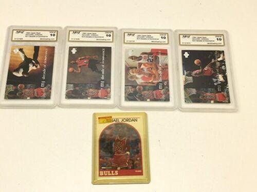 Lot of 5 Michael Jordan 1994 Upper Deck Cards ?Graded 10 Mint