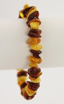 VINTAGE Jewelry SHADES OF GENUINE AMBER CHUNKY GEMSTONE STRETCH BRACELET... - $55.00