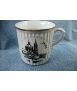 Duchovsky Porcelain Coffee Cup Made In Czechoslovakia w/ Black & White L... - $4.46