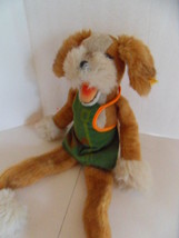 Steiff dog button and flag stuffed animal made in  Germany 1356 - $59.84