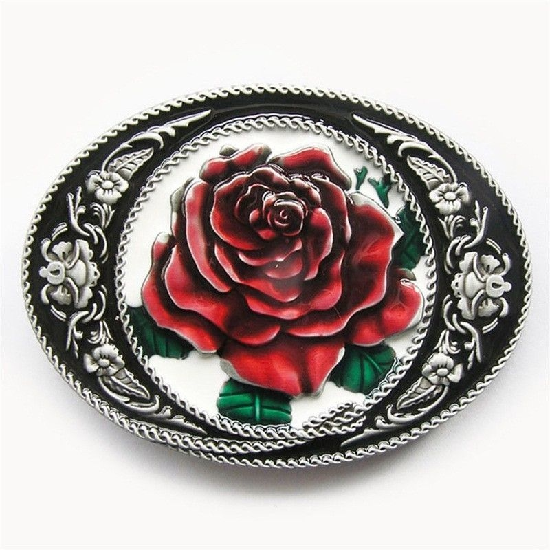 Primary image for Belt Buckle New Vintage Western Rose Oval Belt Buckle also Stock in US