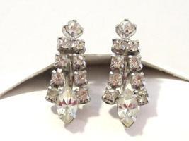 Vintage jewelry rhinestone earrings - $8.00