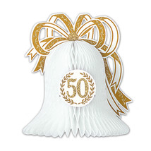 "Beistle Party Decoration 50th Anniversary Centerpiece 10 1/2"" - 12 Pack ... - $53.39"
