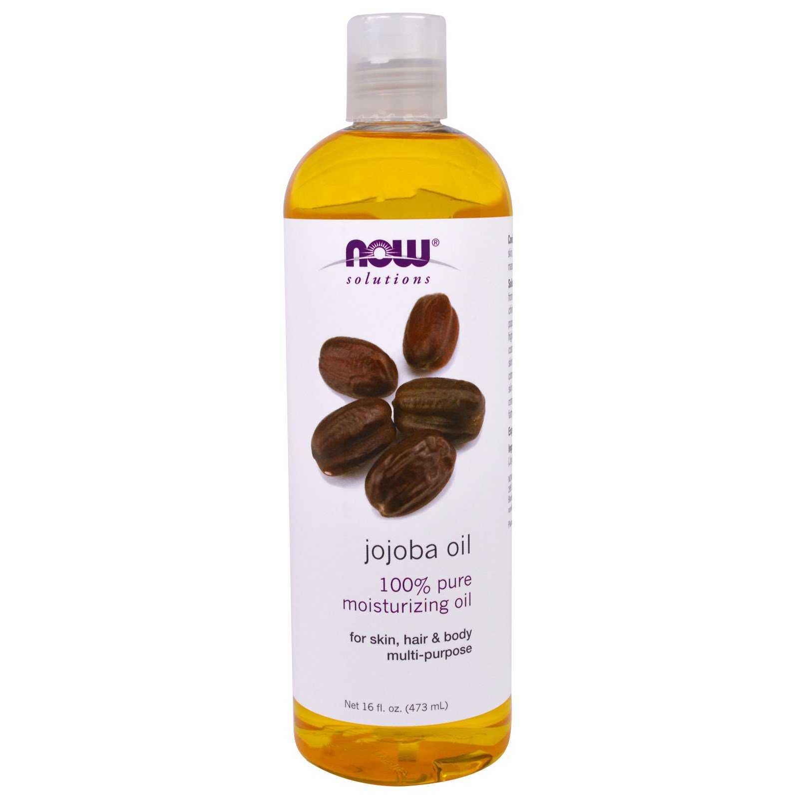 Now Foods, Solutions, Jojoba Oil, 16 fl oz (473 ml) Aromatherapy Essential Oils