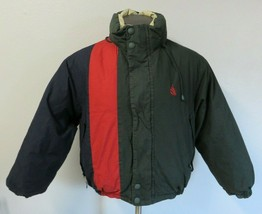 Mens Nautica Reversible Jacket Full Zip Duck Down Fill Size Small S Colo... - $49.49