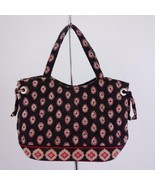 Vera Bradley 2006 Retired Classic Black Mini Satchel Quilted Purse - $19.25