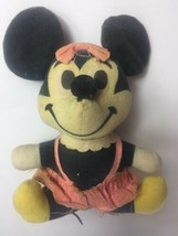 "Vintage Minnie Mouse Doll Walt Disney Productions 7"" doll plush 1950""s Doll - $31.67"