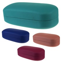 Womens Pop Color Matte Plastic Oversize Diva Clam Shell Eyewear Hard Case - $9.95