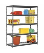 5 Shelf Metal Storage Rack Steel Shelving Adjustable Heavy Duty 60 x 24 ... - $179.09