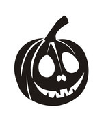 Creative Halloween Pumpkin Innovative Carved Wall Sticker Waterproof  Vi... - €8,43 EUR