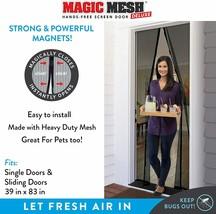 Magic Mesh Deluxe- Black- Hands Free Magnetic Screen Door image 2