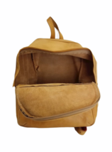 """Vintage BREE Bag Tan Leather Backpack Bag Day Pack 14.5"""" H x 12"""" W x 6"""" Poland image 4"""