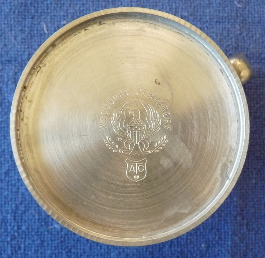 Woodbury small pewter tankard mug vintage American Colonial style