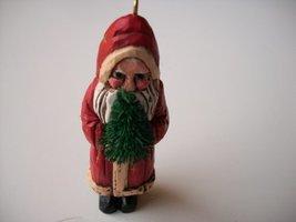 Folk Art Santa 1987 Hallmark Ornament QX4749 - $6.92