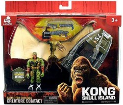 Kong Skull Island Creature Contact Playset With Winged Creature and Moto... - $14.99