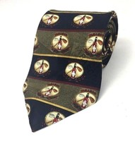 Tabasco Neck Tie Hot Sauce Novelty Golf Clubs Cross Stripes Black Olive ... - $11.32