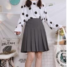Women Girl Black Pleated Midi Skirt Outfit Plus Size Black Tennis Skirt US0-US16 image 10