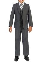 Boys Formal Three Piece Kids Suit Set - 5PC - Jacket, Shirt, Tie, Vest, Pants image 2