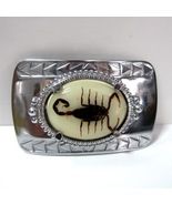 Vintage Silver Tone Metal Scorpion Men's Belt Buckle - $12.99