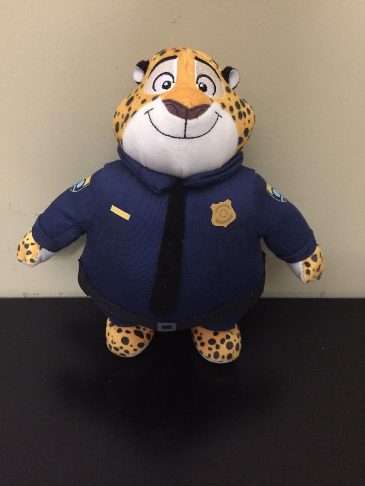"Zootopia Police Officer Clawhauser Plush 13.5"" Disney Store Authentic"