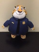 "Zootopia Police Officer Clawhauser Plush 13.5"" Disney Store Authentic - $26.73"