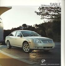 2009 Mercury SABLE sales brochure catalog US 09 Premier FINAL - $8.00