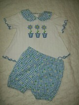 Litle Lindsey Girls Outfit Sz 18 Months Blue Daisy Print 2 Piece Spring ... - $13.63
