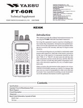 Yaesu FT-60R Technical Supplement * CDROM * PDF - $7.99
