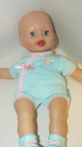Fisher Price Baby So New Doll Little Mommy twin green blue outfit bootie... - $14.84