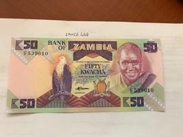 Zambia 50 kwacha uncirc. banknote 1988 - $4.95