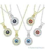 Evil Eye 14k Gold Pendant Turkish Nazar Greek Mati Charm Hamsa Kabbalah ... - $119.99