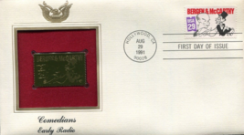COMEDIANS Early Radio featuring Bergen & McCarthy First Day Gold Stamp I... - $5.50