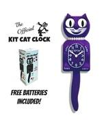 "ULTRA VIOLET LADY KIT CAT CLOCK 15.5"" Purple Free Battery USA MADE Kit-C... - £48.86 GBP"