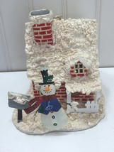 HALLMARK ORNAMENT SNOWMAN SNOW COVERED HOUSE Large 23130 - $9.64