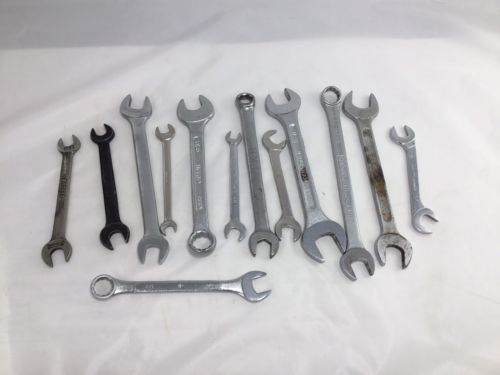 Primary image for Lot of 13 various open and box wrenches Challenger superwrench  nasa