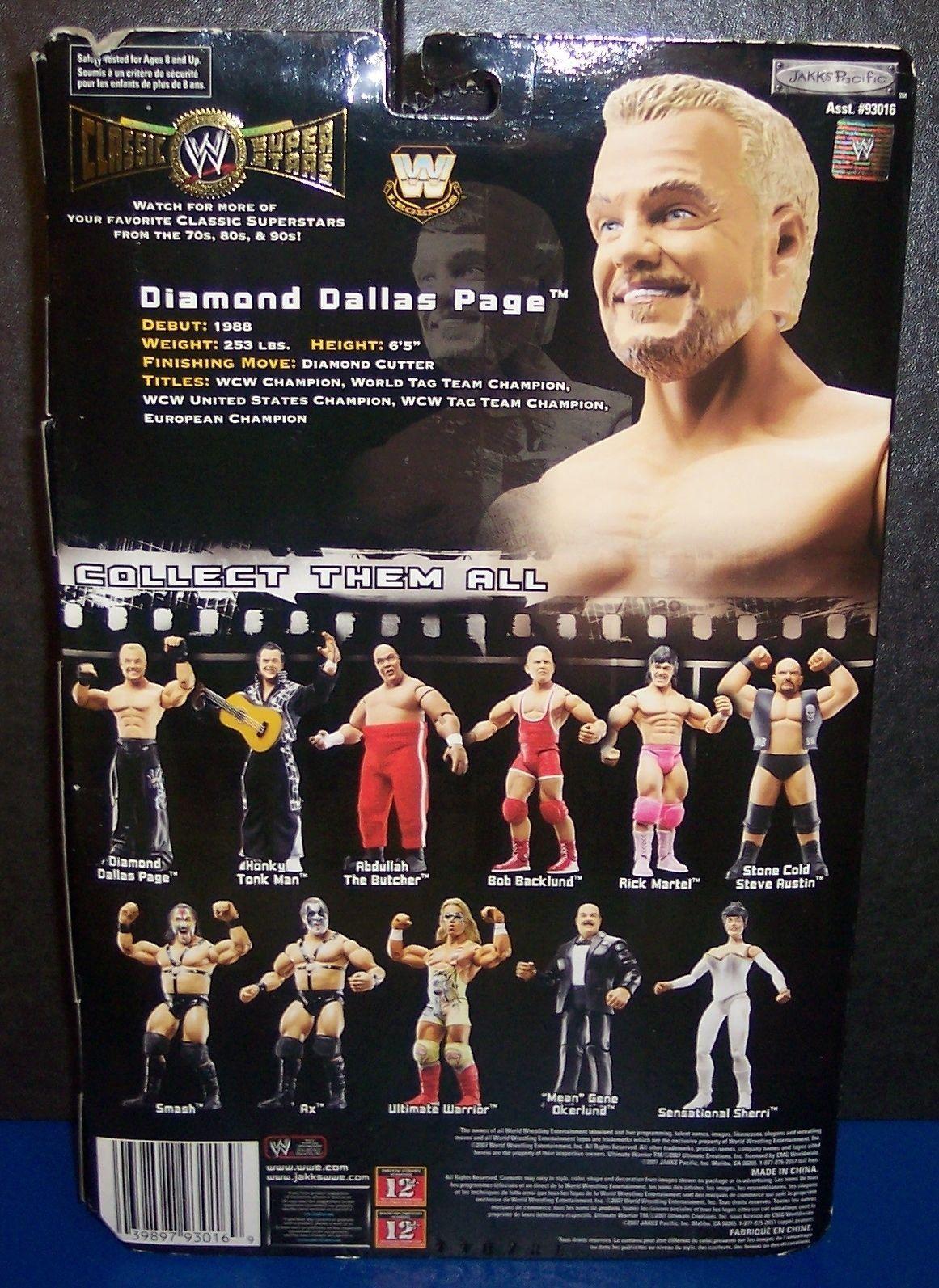 "NEW! 2007 Jakk's Classic Superstars Series #14 ""DDP"" Action Figure WWE {1380} image 2"