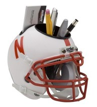 Nebraska Cornhuskers (White) NCAA Football Schutt Mini Helmet Desk Caddy - $21.95