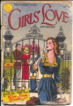 Girls' Love Stories #10 1951-DC-10¢ cover price-52 pages-1st art cover-P - $37.83