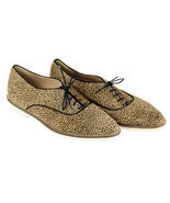 J Crew Women's Calf Hair Oxfords In Tan And Black Polka Dot 7 Womens Sho... - €46,06 EUR