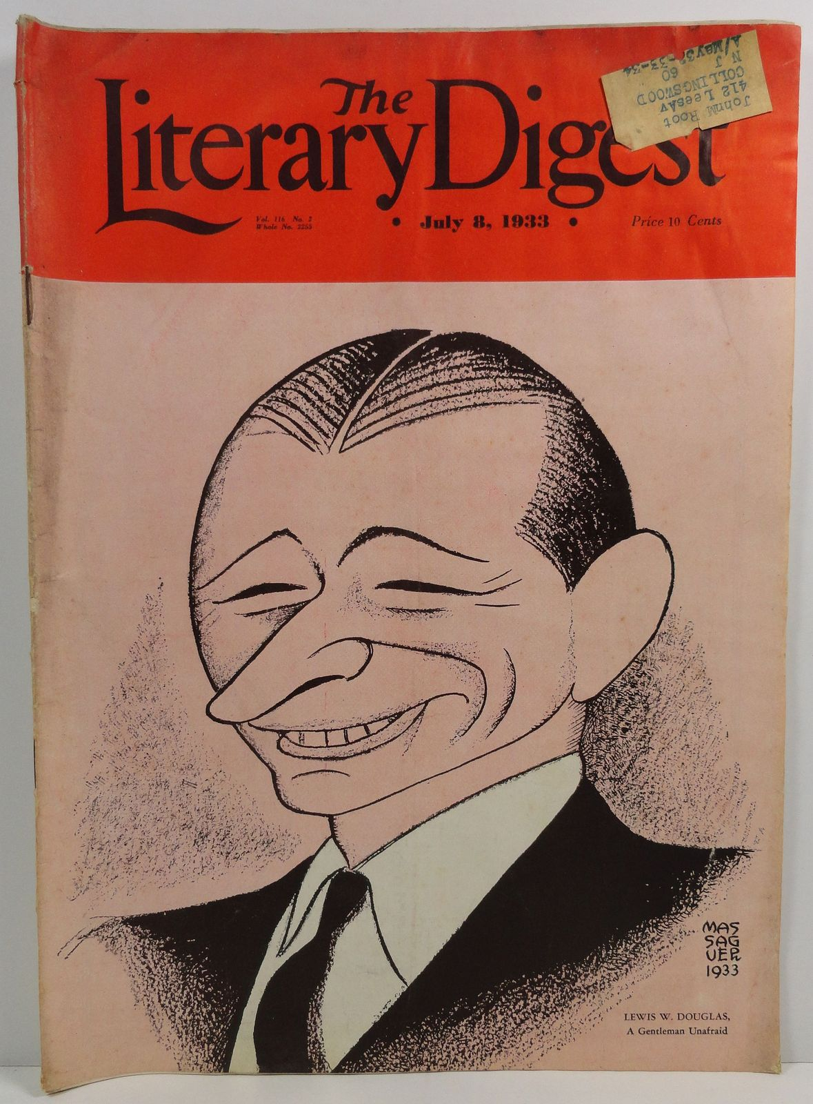 The Literary Digest July 8, 1933 Lewis W Douglas