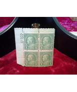 1923 1 Cent Franklin Collectible Stamps ;Green - Block Of 4 Unhinged Unu... - $79.99