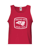 Custom Hecho en Mexico Tank Top Sleeveless - Personalized with Your Text... - $15.35+