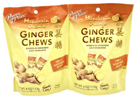 Prince of Peace Ginger Chews Candy with Mandarin Orange 4 oz ( Pack of 2 ) - $9.75