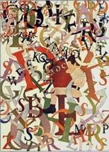 """Maxfield Parrish Vintage Bookplate Print """"School Days: Alphabet"""" 1908 - $12.00"""