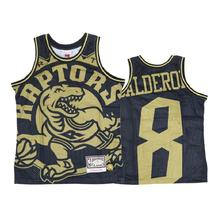 Toronto Raptors 8 Jose Calderon Black Gold Big Face Jersey - $49.99