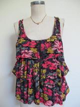 Urban Outfitters Pins and Needles Tank Top S Tiered Ruffle Soft Rayon Knit Zip image 3