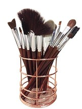 Bronze Metal Wire Pen Pencil Holder, Makeup Brush Cups Container, Wired ... - $14.00