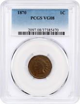 1870 1c PCGS VG-08 - Indian Cent - Scarce Date - $116.40