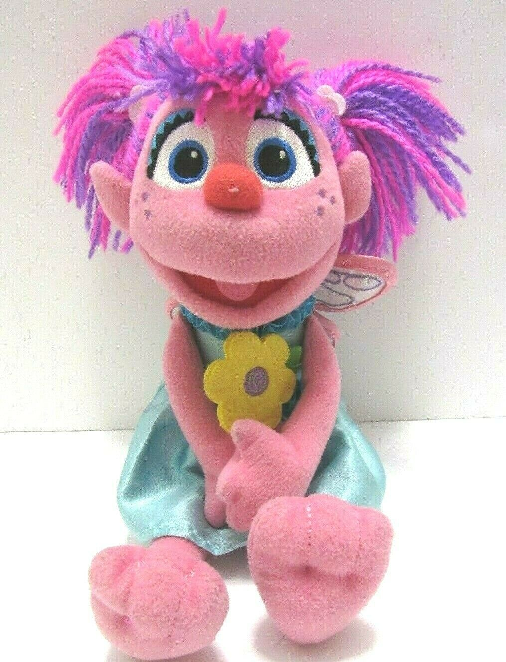 "Gund Sesame Street Abby Cadabby Fairy Plush Stuffed Doll Plushie Muppet 11"" 2014 - $30.68"